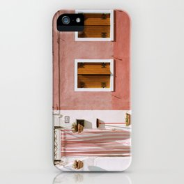 Sunny pink house iPhone Case