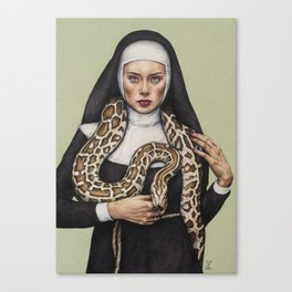 Nun the Wiser Canvas Print