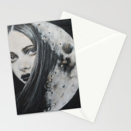 Weeping Heart and the Moon Stationery Cards