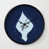 marceline Wall Clocks featuring Marceline, The Vampire Queen by dudsbessa