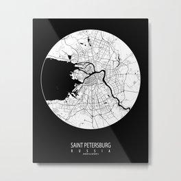 Saint Petersburg City in Russia - Full Moon Metal Print