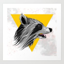 Racoon illustration Art Print