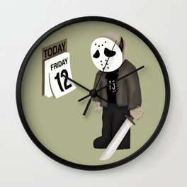 Friday the 12 Wall Clock
