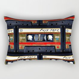 Retro classic vintage gold mix cassette tape Rectangular Pillow