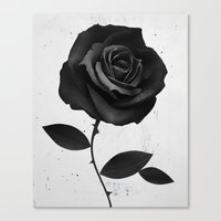 fabric Canvas Prints featuring Fabric Rose by Ruben Ireland
