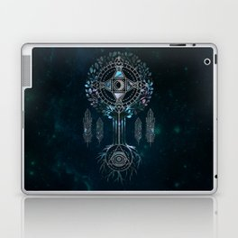 Mystical Alchemy Tree Ornament - marble and silver Laptop & iPad Skin