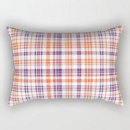 Varsity plaid purple orange and white clemson sports college football universities Rectangular Pillow