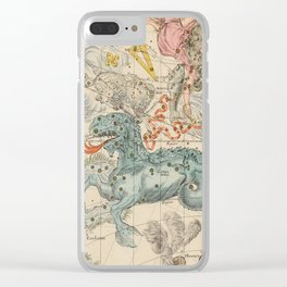 Vintage Celestial & Astrological Map  (1693) Clear iPhone Case