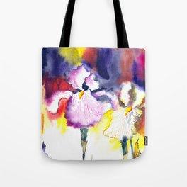 Expressive iris flowers Tote Bag