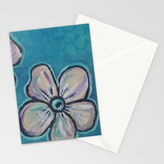 Flowers in Teal Stationery Cards