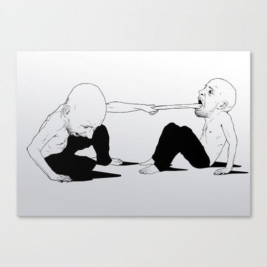 sore loser Canvas Print