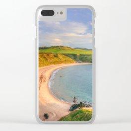 Porthor Bay at Sundown Clear iPhone Case