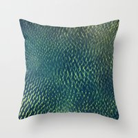 scales Throw Pillows featuring Scales by Simona Sacchi
