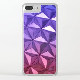 Pink & Purple Abstract Clear iPhone Case