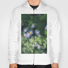 Blue and Yellow Flowers Hoody
