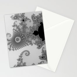males mandelbrot abstract Stationery Cards