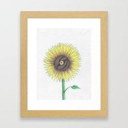 Seeing Sunflowers Framed Art Print