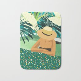 Chill #illustration #travel Bath Mat