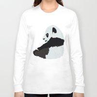 pandas Long Sleeve T-shirts featuring Pandas by Alexandra Baker