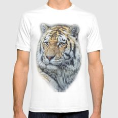 panthera tigris Mens Fitted Tee White SMALL
