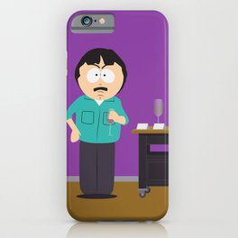 I'm not having a glass of wine - Randy Marsh quote iPhone Case