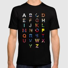 VGC alphabet Mens Fitted Tee Black LARGE