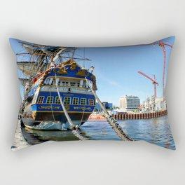 Swedish sailship Götheborg in Aarhus in Denmark Rectangular Pillow