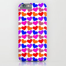 Colorful Hearts Pattern iPhone 6s Slim Case