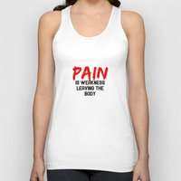 pain Tank Tops featuring Pain by Spooky Dooky