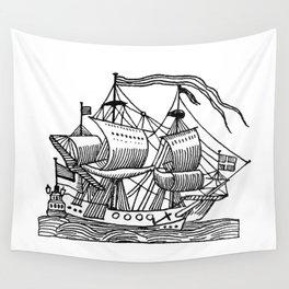 Ship Barco Bateau Schiff лодка Wall Tapestry