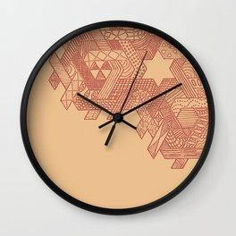 Tessellating Textures Wall Clock
