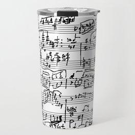 Hand Written Sheet Music Travel Mug