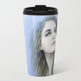 Self - Female digital art painting portrait Travel Mug