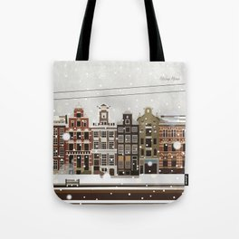Amsterdam in the snow Tote Bag