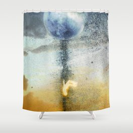 The Descent Shower Curtain