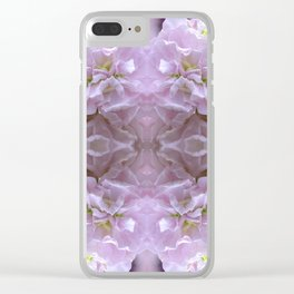 Pink Stocks Clear iPhone Case