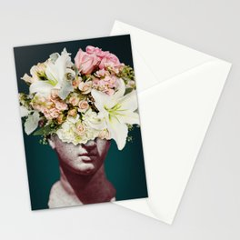 Sculpture Bouquet Collage Stationery Cards