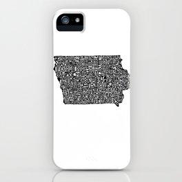 Typographic Iowa iPhone Case