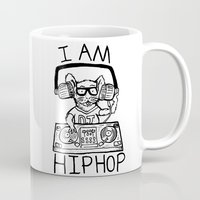 hiphop Mugs featuring I AM HIPHOP  by Geryes