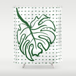 Monstera Leaf Shower Curtain