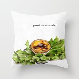 La Cuisine Fusion - Pastel de Nata Salad Throw Pillow