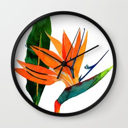 Paradise Flower Wall Clock