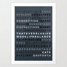 An Artist's Life #3 Art Print