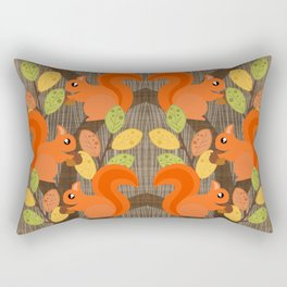 Three Squirrels In A Tree Rectangular Pillow