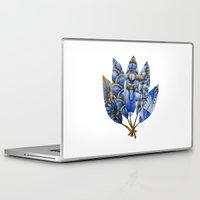 gatsby Laptop & iPad Skins featuring Gatsby Five Feathers by Jennifer Lambein