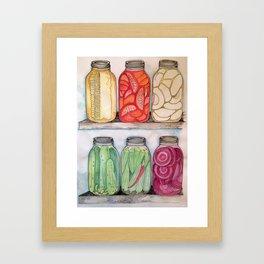 Mason Jars Framed Art Print