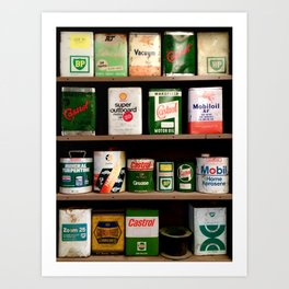Old Cans Art Print
