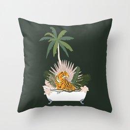 Jungle Spa Throw Pillow
