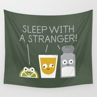 tequila Wall Tapestries featuring Sublimeinal Message by David Olenick