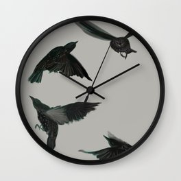 Common Starlings Wall Clock